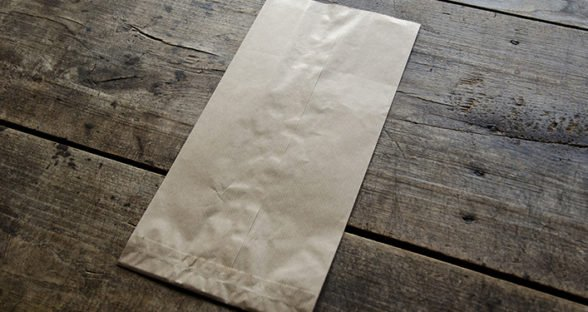 Drag & Slide: Paper Bag on Table
