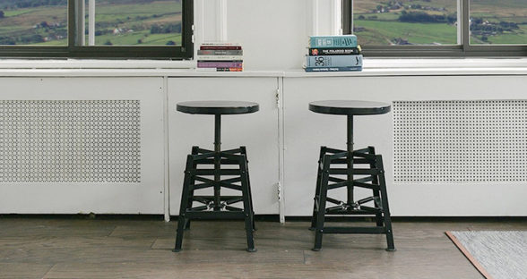 Drag & Slide: Plastic Stool on Tile
