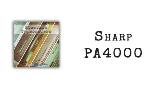 Electric Typewriters: Sharp PA4000