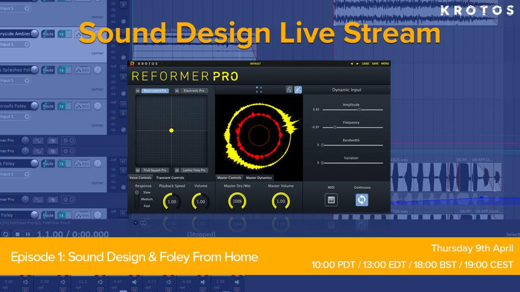 Krotos Sound Design Live STream