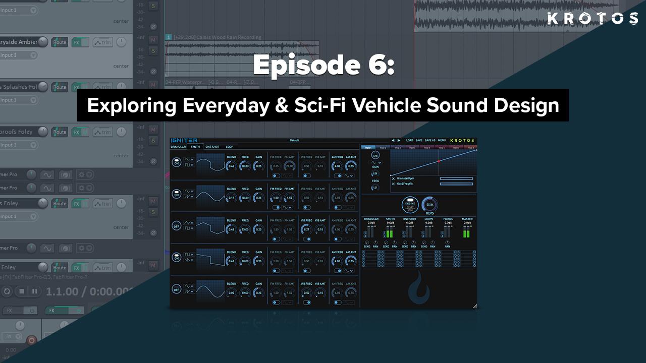 Vehichle Sound Design Live Stream